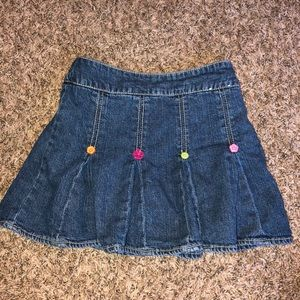 Gymboree Denim Plated Skirt Size 6